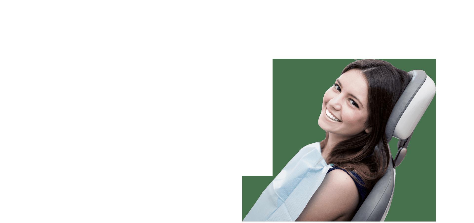 Девушка в стоматологическом кресле